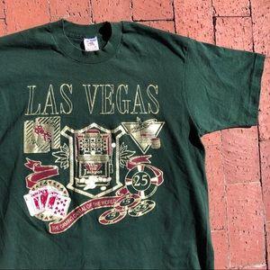 Vintage single stitch Las Vegas Gambling tee